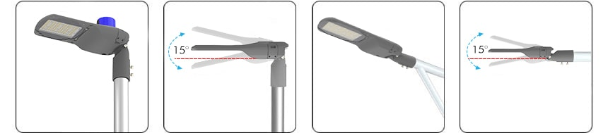 pluto series 200w led street light horizontally or vertically mounting