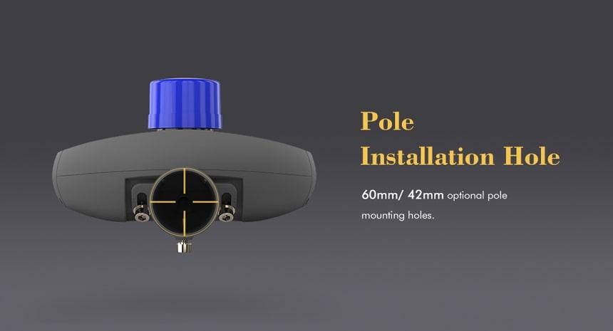 pluto 150w led street light pole installation holes 60mm/42mm