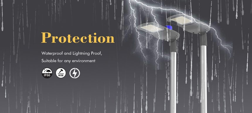 pluto 40w led street light waterproof and lightning proof