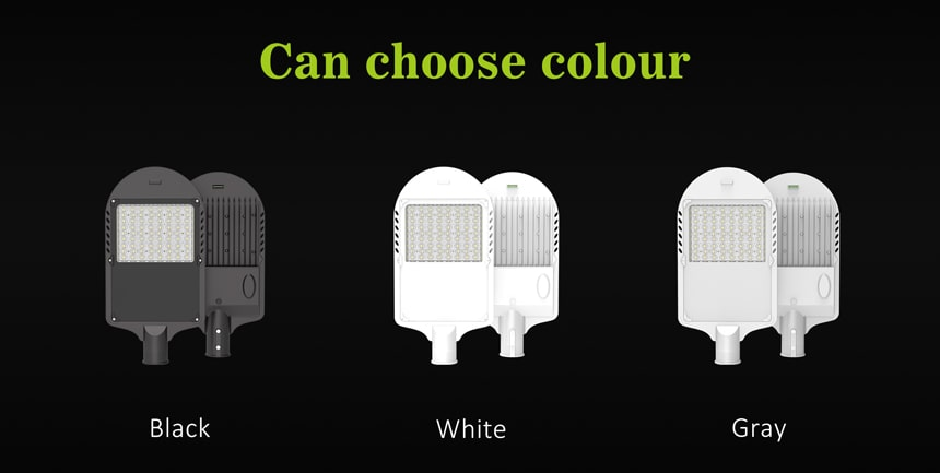 saturn 180w led street light can choose housing color