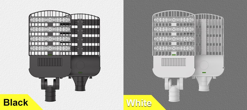 240w led street lights can choose black and white two colors