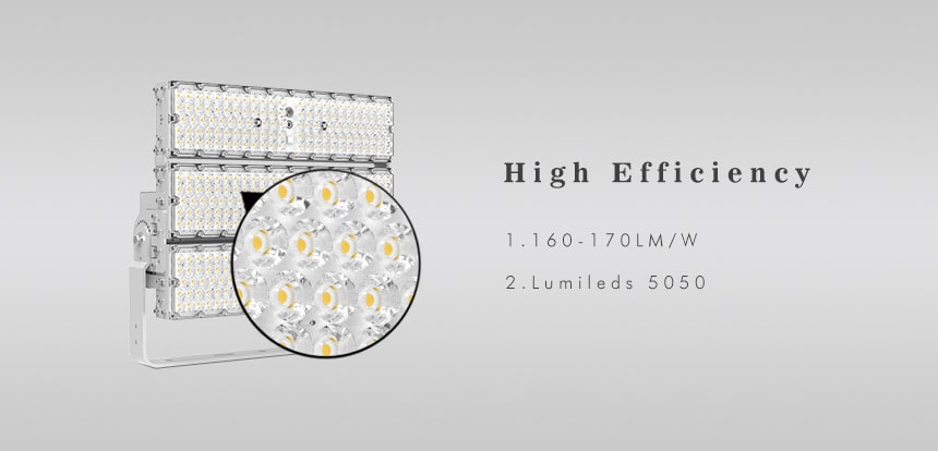 720W 900W high efficiency 170lpw LED High Mast Light