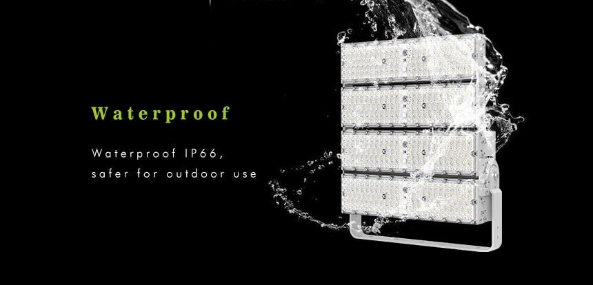 800w waterproof ip66 LED High Pole Flood area lights