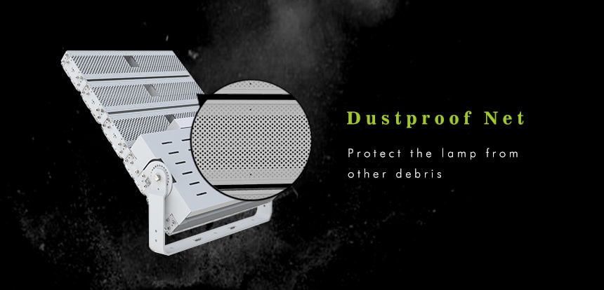 1500w led high pole flood light with dustproof net