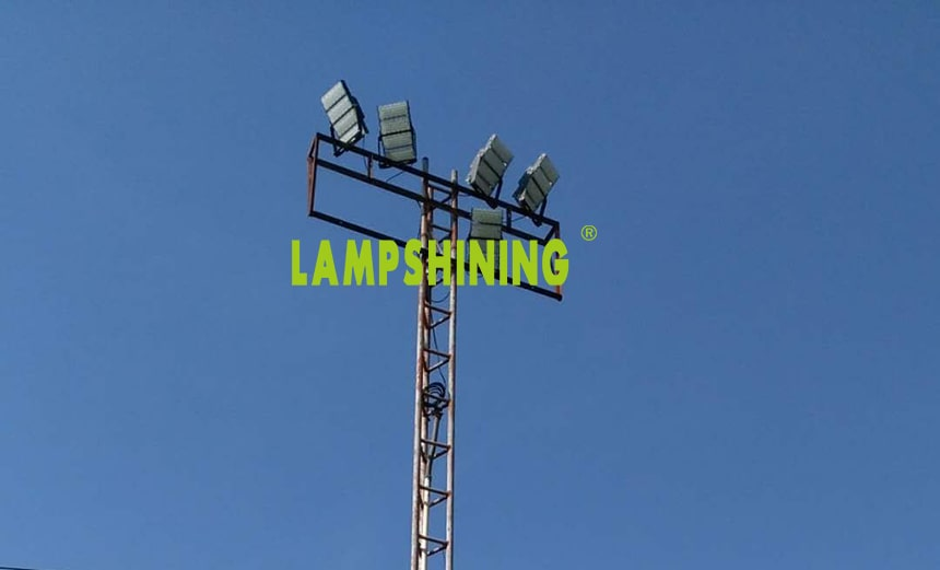 slim led high mast sports light project