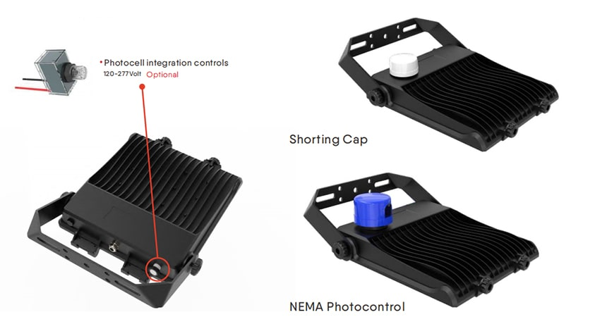 nemo led flood light with photocell sensor