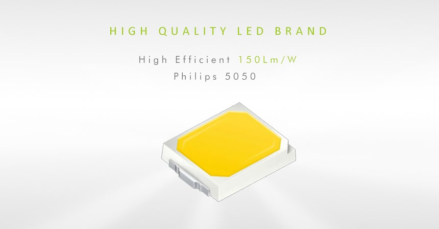 uses high quality led brand philips 5050