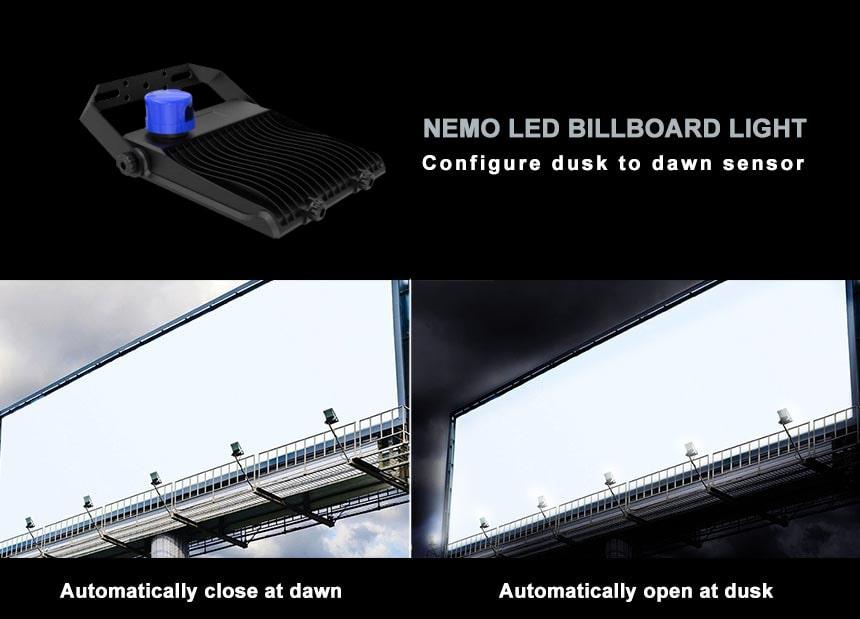 led billboard flood light fixtures Configure dusk to dawn sensor