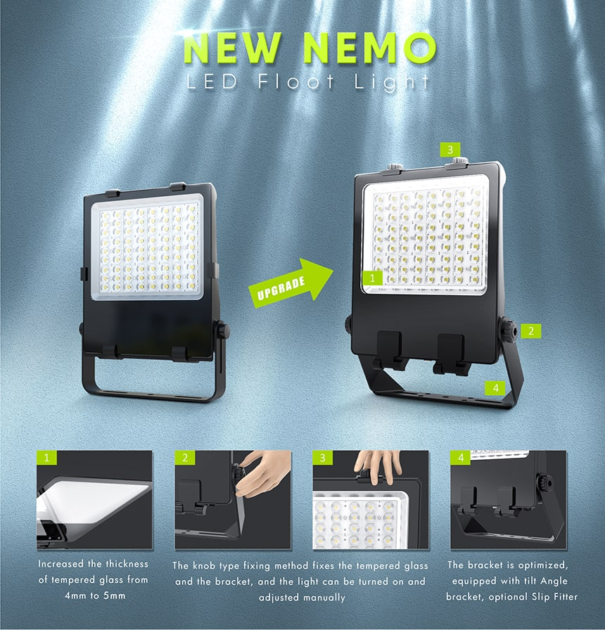 new nemo led flood light features