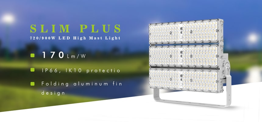 720W 900W LED High Mast Light