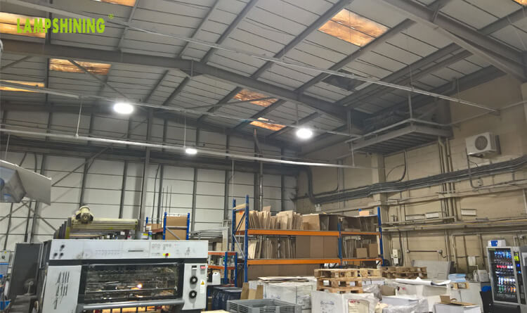 150W LED Low Bay Lighting for Printing Plant in UK