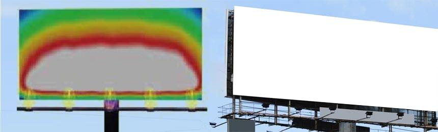 billboard led lighting fixtures dialux slimulations
