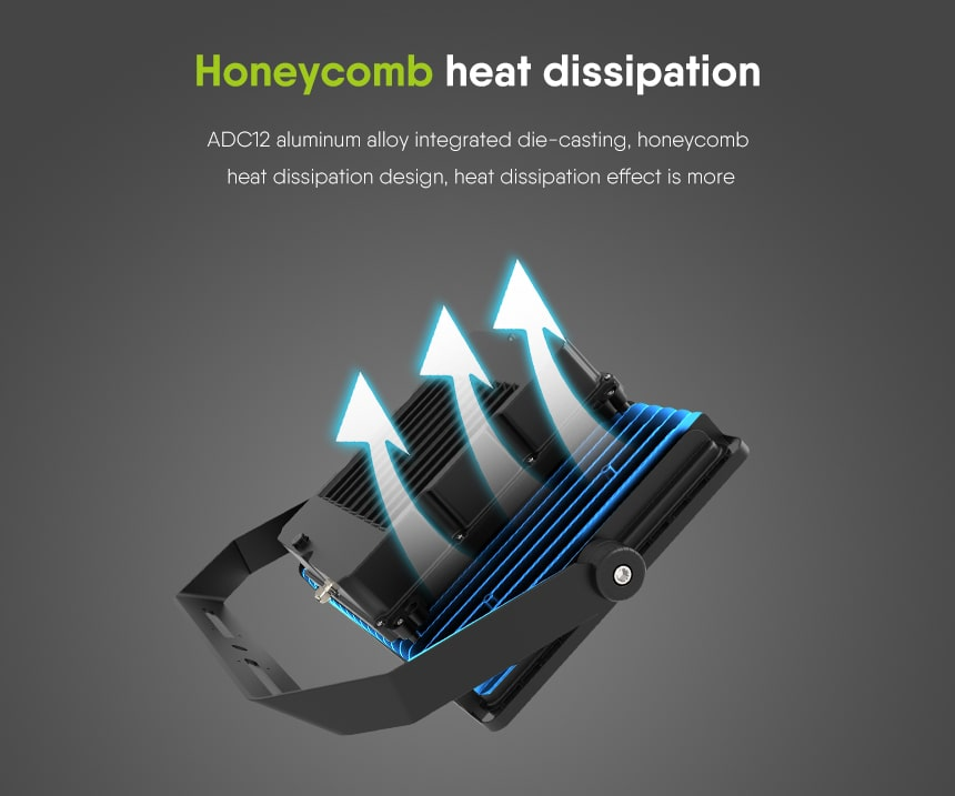 led stadium spotlight Honeycomb heat dissipation design