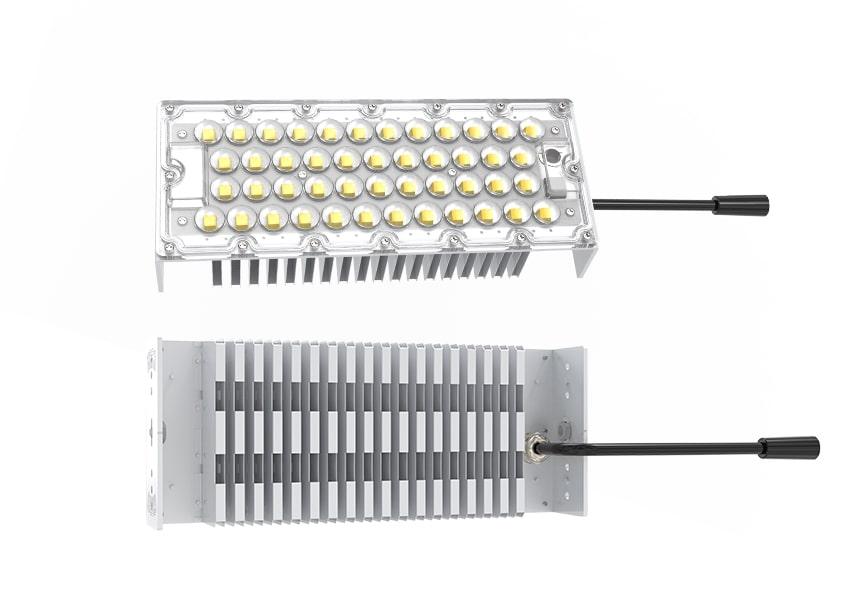 100W LED Fin Module Light features show