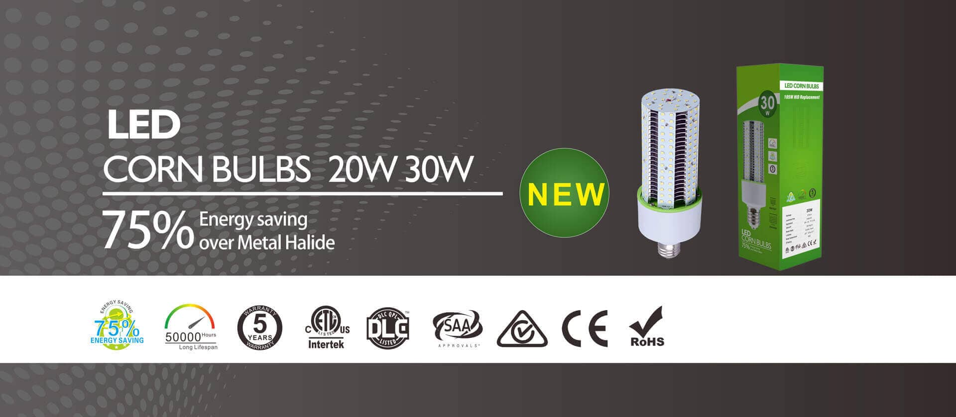 DLC LED Corn Bulb 20W 30W