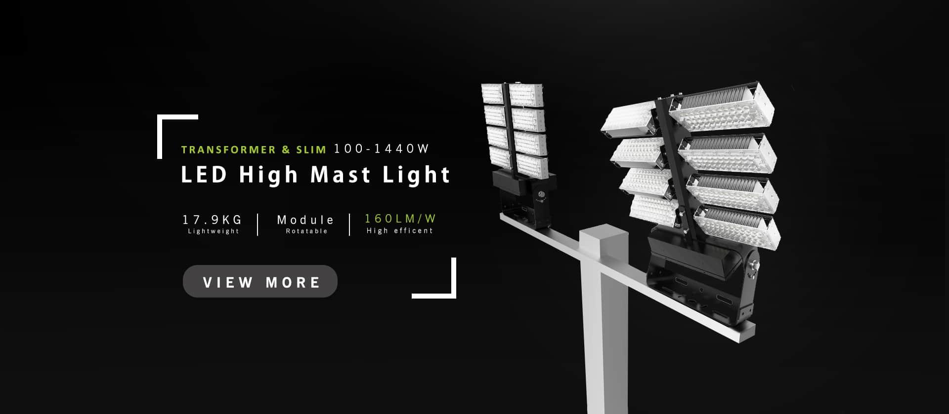 led high mast light 100w to 1440w
