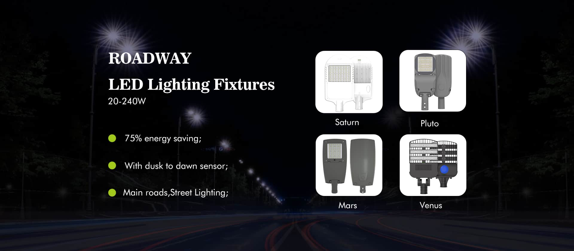 led roadway lighting fixtures
