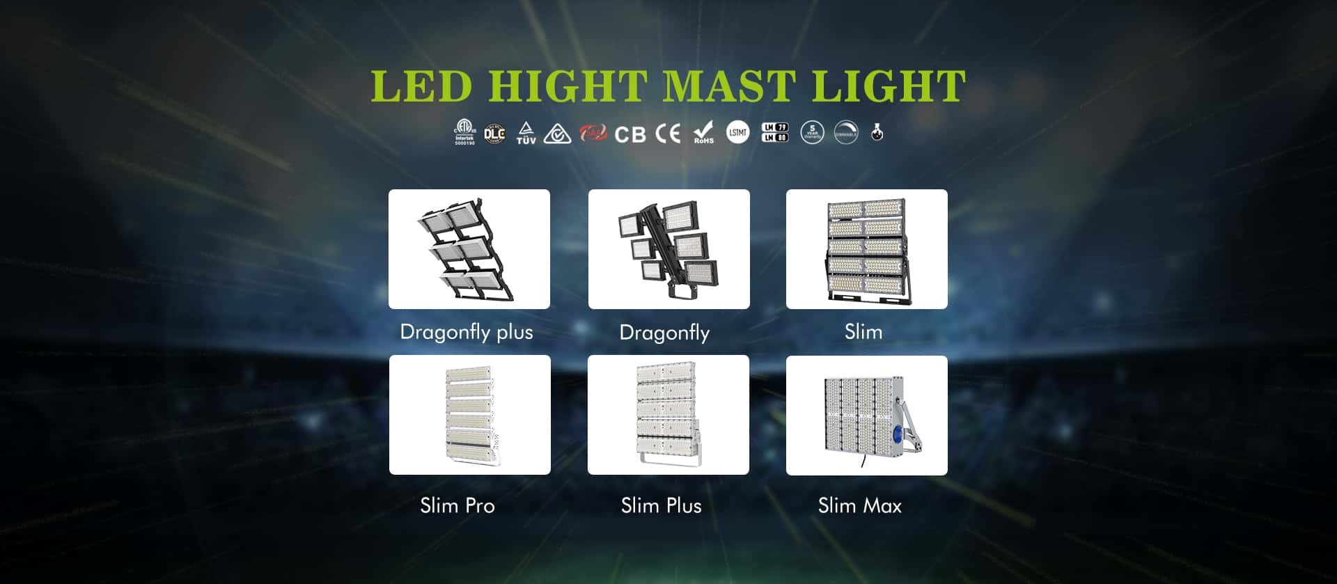 high power less weight led stadium flood light