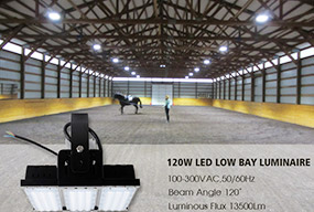 120W LED Low Bay Luminaire for Racecourse Lighting - Customer Feedback