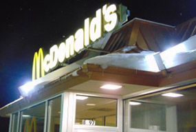 DVG-LED corn bulbs being used at a McDonalds
