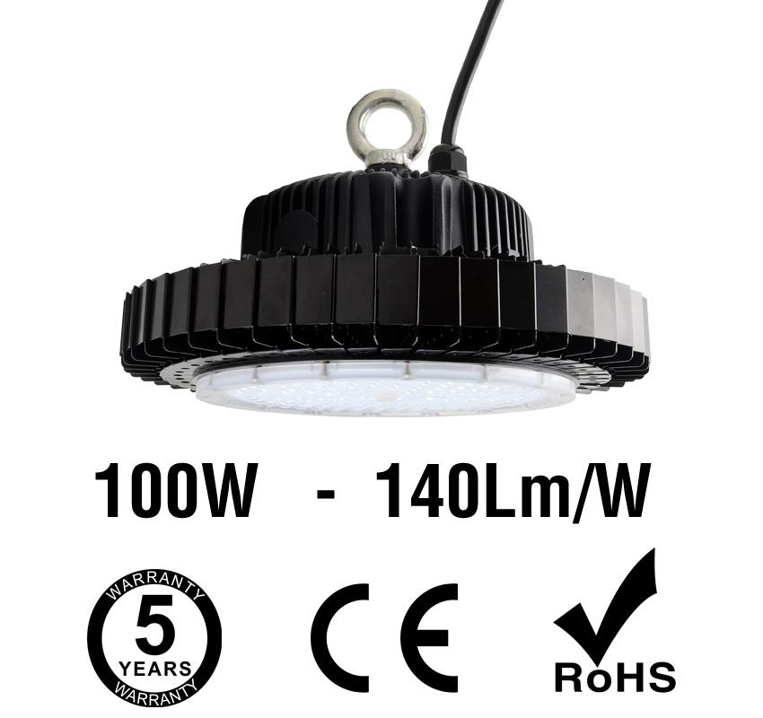 100W UFO LED High Bay Light 140Lm/W 14000 Lumen CE RoHS