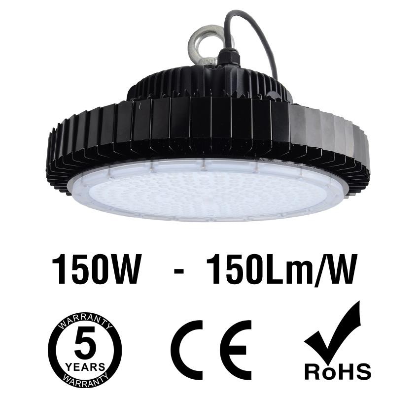 150W UFO LED High Bay Light 150Lm/W 22500 Lumen CE RoHS