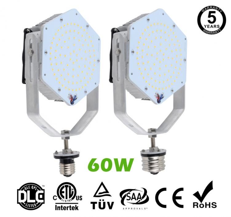 60W LED Retrofit Kits for 175W Metal Halide Fixtures 6,480Lm Parking Lot Lighting Retrofit