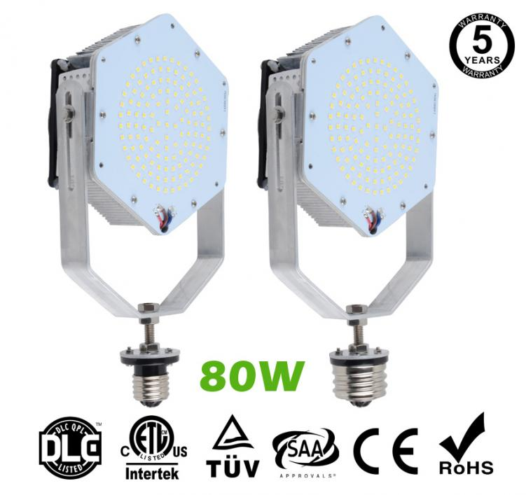80W LED Retrofit Kits for 275W Metal Halide Fixtures 11,520Lm Parking Lot Lighting Retrofit