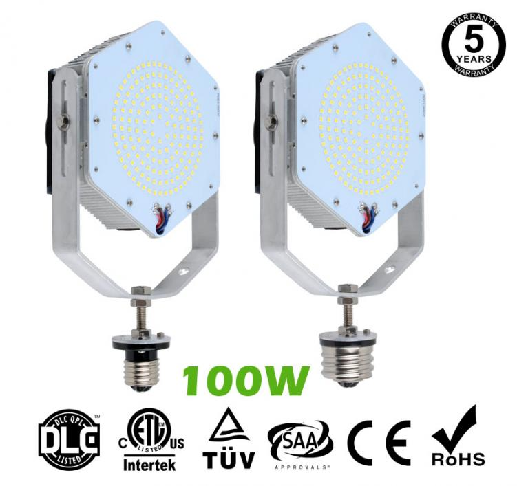 100W LED Retrofit Kits for 350W Metal Halide Fixtures 14,400Lm Parking Lot Lighting Retrofit