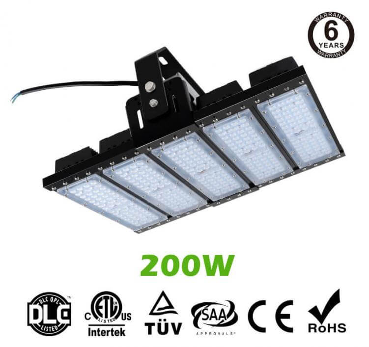 200W LED Flat High Bay Light 26500 Lumen Equivalent 500W HID/Metal Halide Light