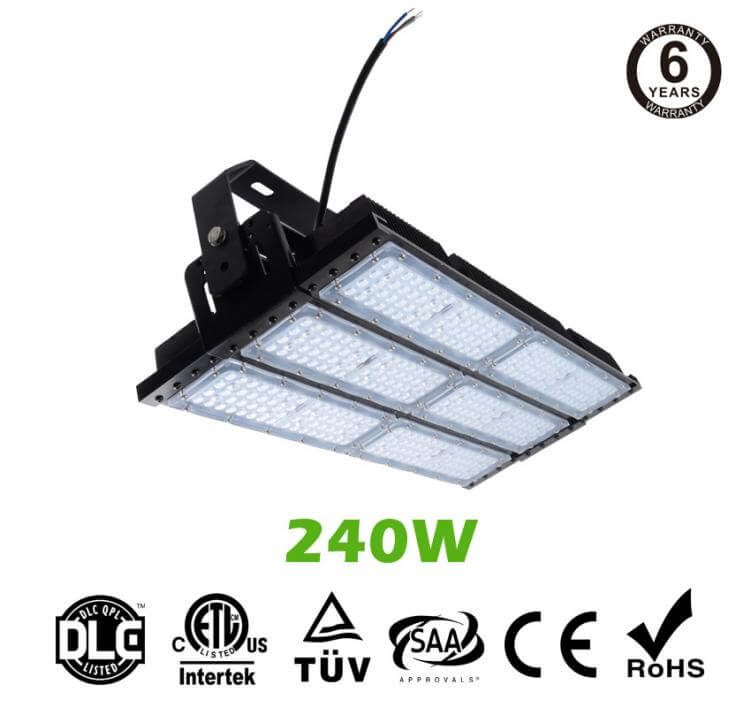 240W LED Flat High Bay Light 32000 Lumen Equivalent 600W HID/Metal Halide Light