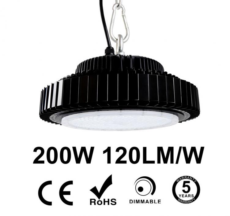 200W UFO LED High Bay Light 120Lm/W 24000 Lumen CE RoHS