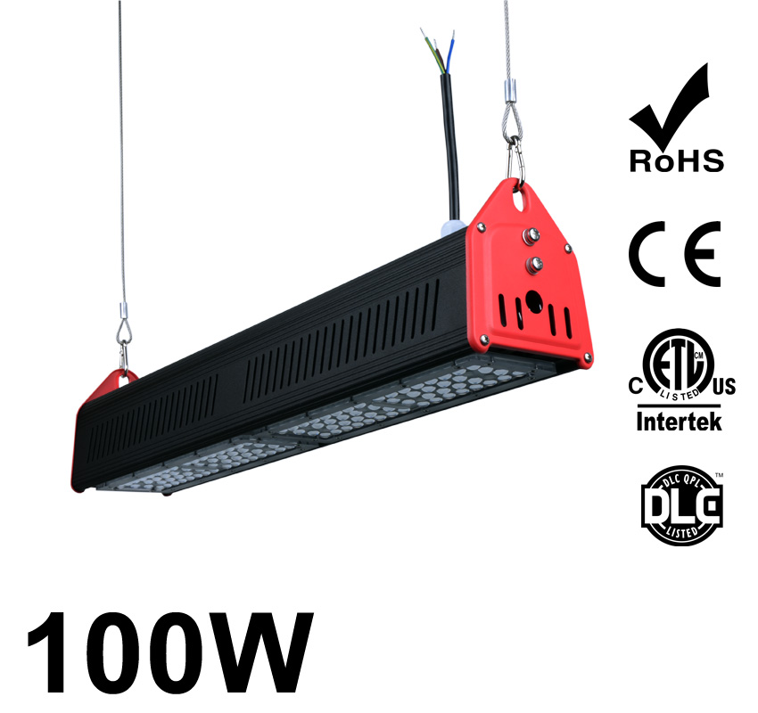 100W LED Linear High Bay Light 12700Lm CE RoHS ETL DLC