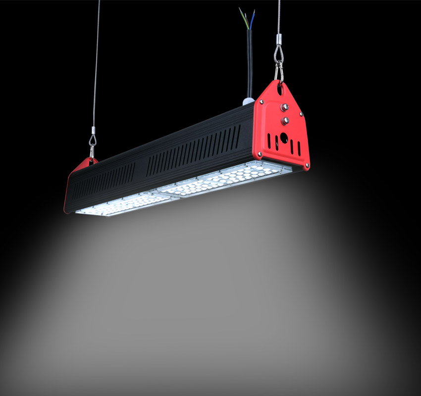 100W Linear LED High Bay Light 18000Lm CE RoHS TUV ETL DLC