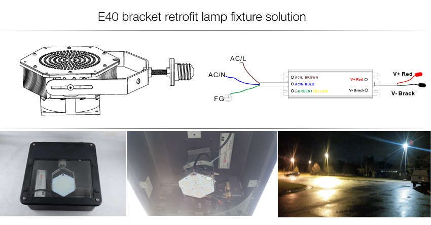 E40 E39 Base LED Retrofit Kit Light solution
