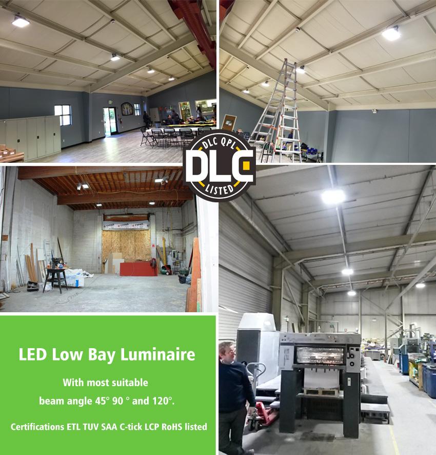 50W LED Flat High Bay Light 6000 Lumen Equivalent 125W HID