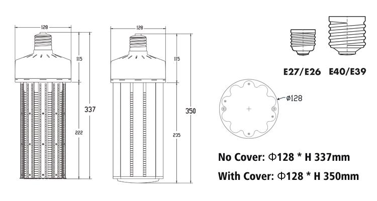 150W led corn light bulbs dimensions.jpg