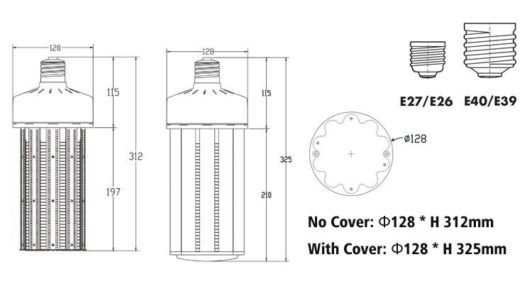 ce rohs 120W led corn light bulbs dimensions.jpg