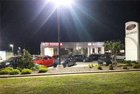 LED Corn Lights are used in Toyota shop and the customers are full of praise for it.