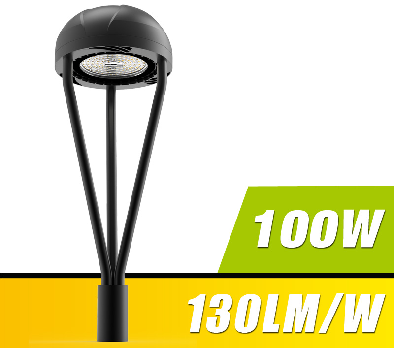 100W LED Post Top Light Fixture 11000Lm outdoor Park Pathway Pole Garden Lights Photocell