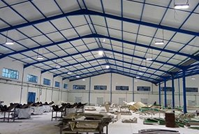installed in Tunisia warehouse led linear high bay lights 100W 64pcs and 50W 29pcs