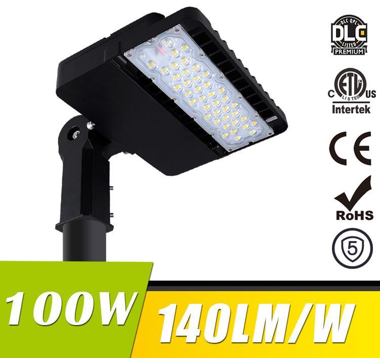 100W LED Shoebox Area Light Fixtures 140Lm/W 14000Lm