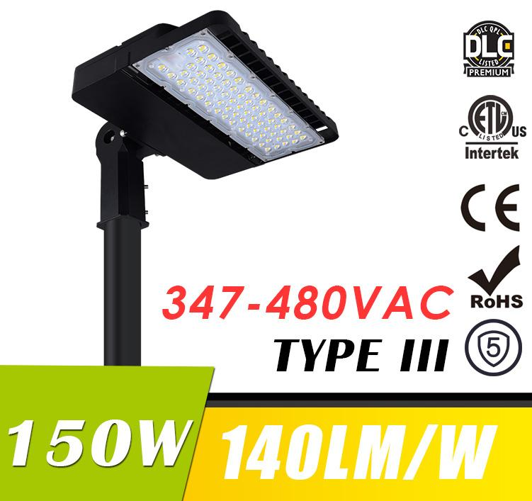 150W 347-480VAC LED Shoebox Light Fixtures LED Parking Lot Lights