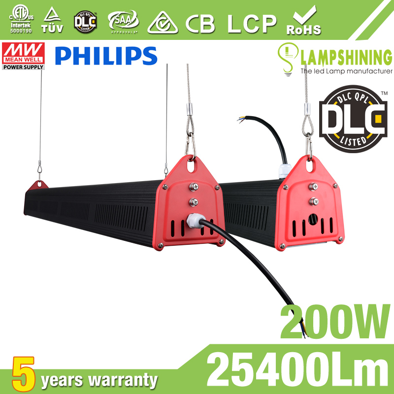 200W LED Linear High Bay Light 25400Lm CE RoHS ETL DLC