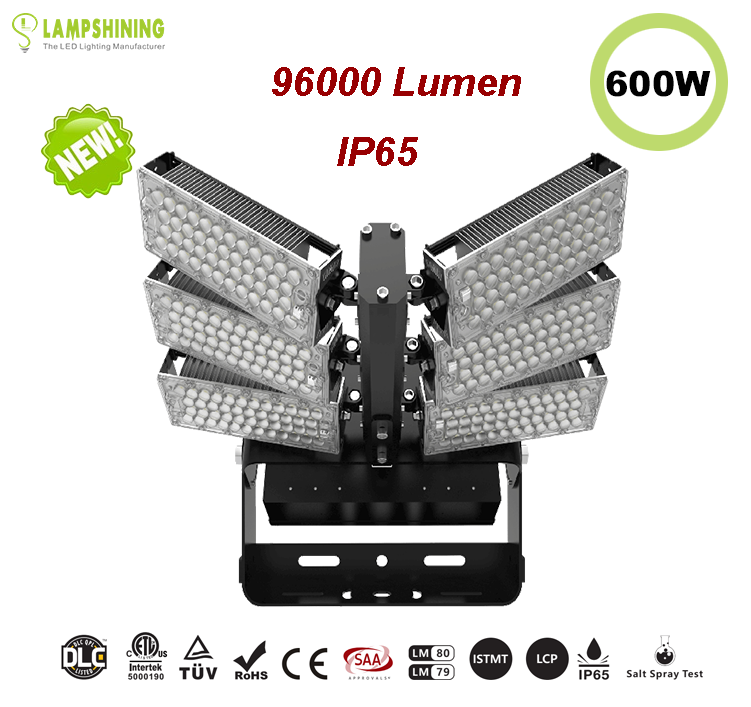 600W LED High Mast Light,Rotatable Module,160Lm/W,96000 Lumen,IP65,Stadium Light,Sports Lighting,Flood Lighting