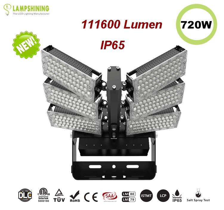 720W LED High Mast Light,Rotatable Module,155Lm/W,1116000 Lumen,IP65,Stadium Light,Sports Lighting,Flood Lighting
