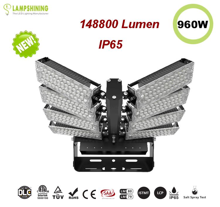 960W LED High Mast Light,Rotatable Module,155Lm/W,148800 Lumen,IP65,Stadium Light,Sports Lighting,Flood Lighting