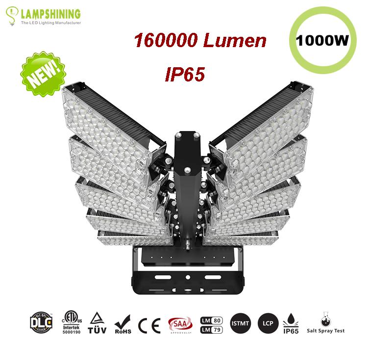 1000W LED High Mast Light,Rotatable Module,160Lm/W,160000 Lumen,IP65,Stadium Light,Sports Lighting,Flood Lighting