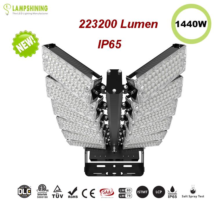 1440W LED High Mast Light,Rotatable Module,155Lm/W,223200 Lumen,IP65,Stadium Light,Sports Lighting,Flood Lighting