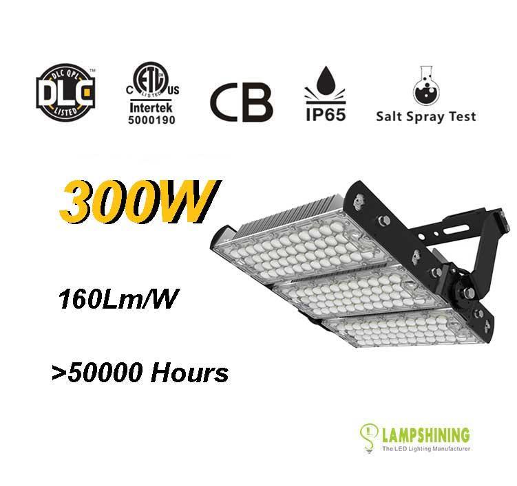300W LED High Mast Light,Rotatable Module,160Lm/W,48000 Lumen,IP65,Stadium Light,Sports Lighting,Flood Lighting